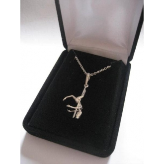 Pole dancer necklace in gift bo