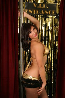 Pole Dancer Posing
