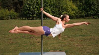 pole dancing pose
