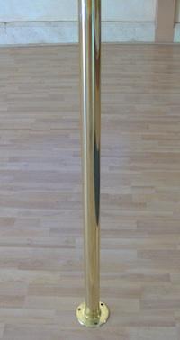 brass permanent mount dance pole