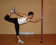 pole dancer stretch