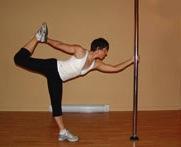 pole dancer stretch