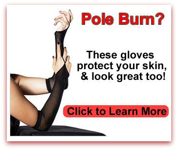 Gloves to protect forearms from pole burn