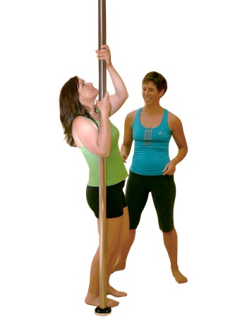 spotting a pole dance move