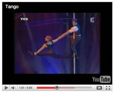 Pole dance video clip
