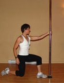 pole lunge exercise