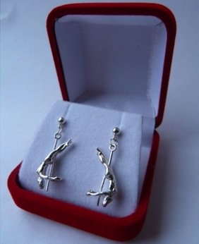 Silver earrings in gift bo